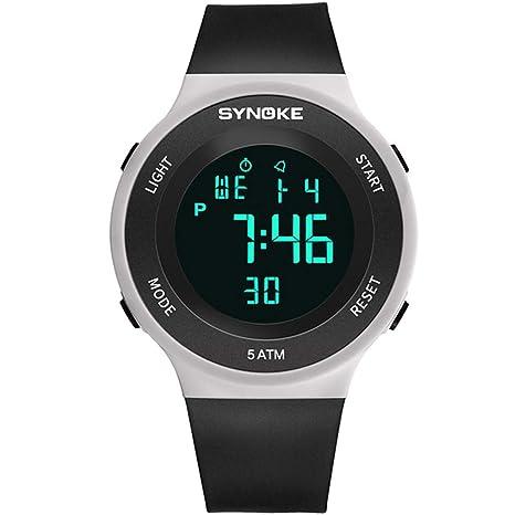 CCYOO Relojes Deportivos para Hombre Reloj De Ejercicios De Alarma Al Aire Libre LED Relojes De