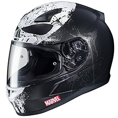 HJC Marvel Unisex-Adult Full face CL-17 Punisher 2 Motorcycle Helmet (MC-5SF, X-Large): Automotive