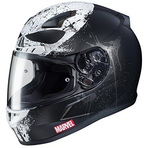 HJC Marvel Unisex-Adult CL-17 Punisher 2 Motorcycle Full Face Helmet (MC-5SF, Large)