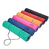 YOGALAND Premium Yoga Mat with Carrier Strap – Yoga Mat 6mm 1/4-Inch Thick, Non-Slip, Eco-Friendly Lightweight, Extra Large 72 x 24 for Yoga, Pilates, Exercise, Fitness (Orange)