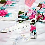 A-wind Girls Satin Kimono Robe For Spa Party Wedding Birthday