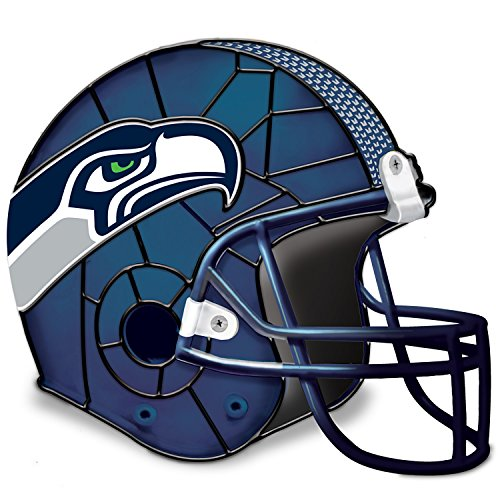 NFL Licensed Seattle Seahawks Football Helmet Tabletop Accent Lamp by The Bradford Exchange