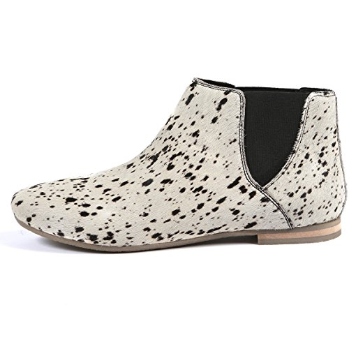 Aspele , Bottes Chelsea fille homme femme mixte adulte - - Storm White Black-Slip On, 39