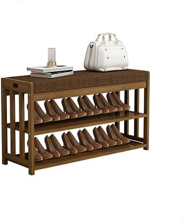 Zapatos Bambú Zapatero, MDF Grande de los Muebles Caja de Almacenamiento for Pasillo, Estante Gabinete (Size : 80cm): Amazon.es: Hogar