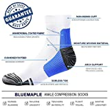 BLUEMAPLE 4 Pair Compression Socks for Women and
