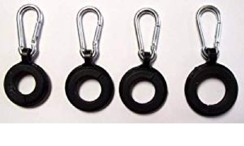 USA Premium Store ''4 RINGS W/ CARABINER CLIPS'' flag pole hooks can hold 3 flags replacement part