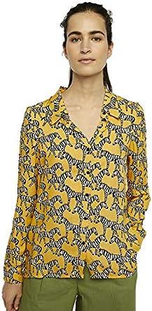 Compañia Fantastica Camisa Estampada Mujer XS: Amazon.es: Ropa y accesorios