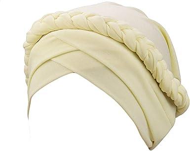 Topassion - Gorro de algodón Suave para Mujer Beige Beige Talla ...