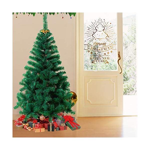 Mctech, albero di Natale artificiale, colore: verde, PVC, 240 cm 7 spesavip