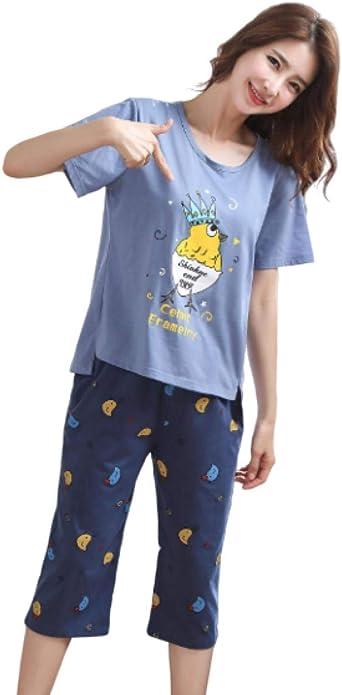 Pijamas para Mujer, Conjunto De Algodón De Pijama para Mujer ...
