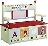 Wildkin Alphabet Soup Toy Box Bench