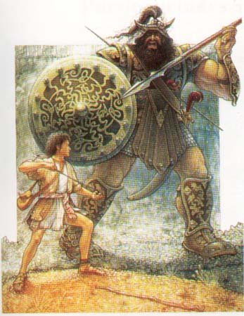 David and Goliath 64 Piece Jigsaw Puzzle by American Puzzles
