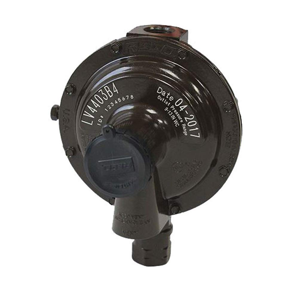 Rego LV4403B4 Low Pressure Second Stage Regulator 1/2'' x 1/2'' Straight Through by Rego