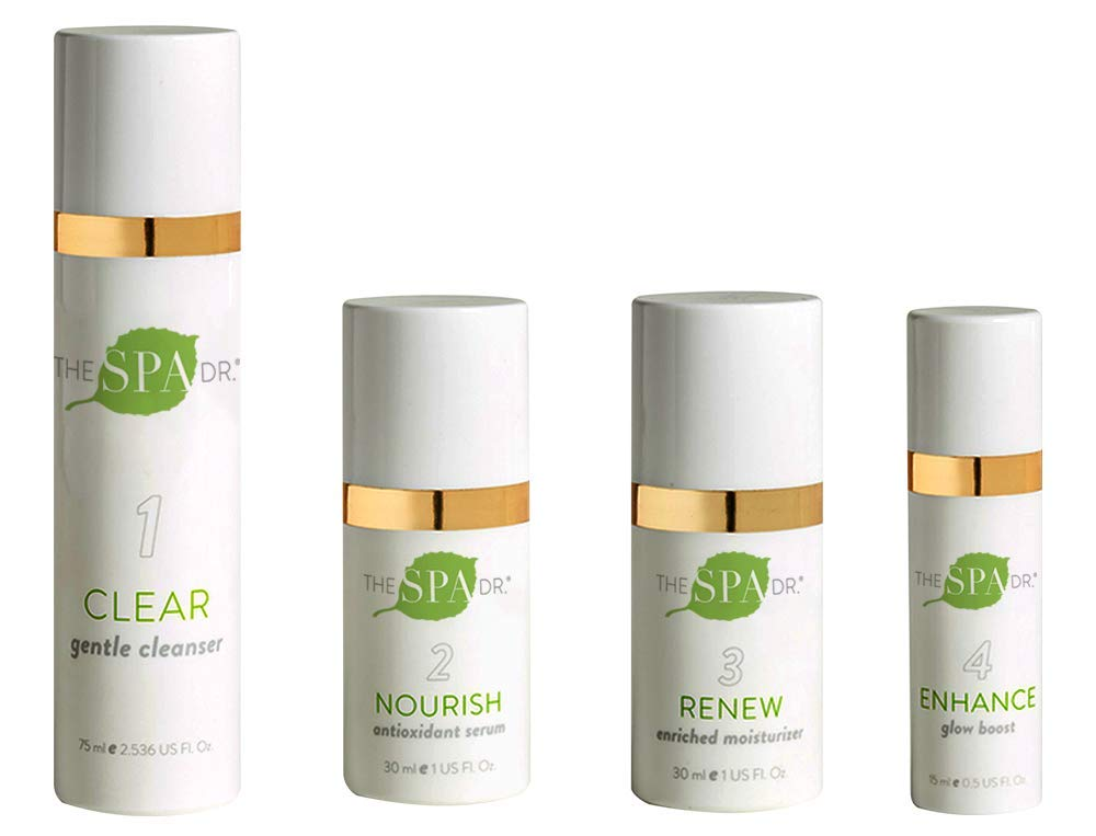 Natural & Organic Skin Care - The Spa Dr.: Daily Essentials 4-Step Skin Care System - Anti Aging Skin Care - 30 Day Supply - Safe For All Skin Types - Perfectly pH Balanced