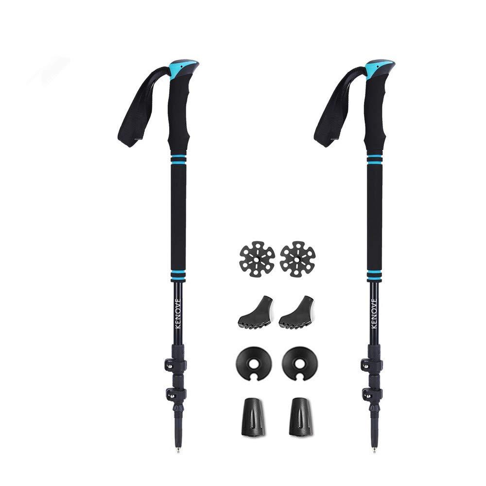 vicelecus Trekking Poles - Collapsible Ultralight Hiking Walking Sticks with Quick Lock & Sweat Absorbing EVA Foam Grips for Camping Mountaineering - 2 Packs for Women Men Kids