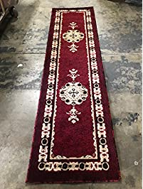 Traditional Runner Red Persian Area Rug Design 121 Americana (2 Feet X 7  Feet 3