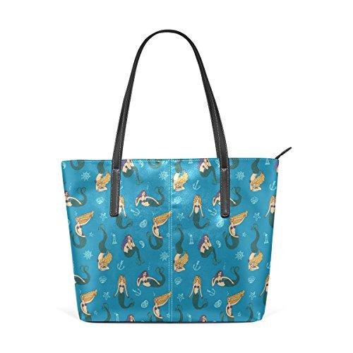 COOSUN Meerjungfrauen Muster PU Leder Schultertasche Handtasche und ...