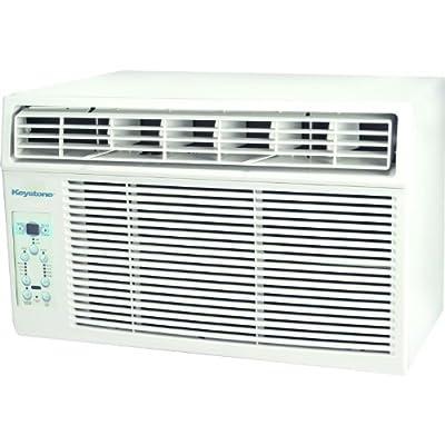 "Keystone KSTAW08B 8,000 BTU 115V Window-Mounted Air Conditioner with ""Follow Me"" LCD Remote Control"