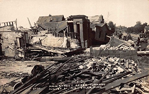 Real Photo Postcard 1918 Main Street after Tornado in Tyler, ()
