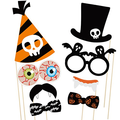 PRETYZOOM 47 Pieces Halloween Party Photo Booth Props Kit Fancy Party Decor Halloween SupplyPose Sign Kit for Party Decoration by PRETYZOOM (Image #5)