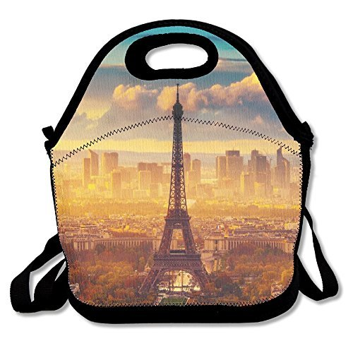 Eiffel Tower Reusable Insulated Lunch Box Tote Bag (Athens Tower)