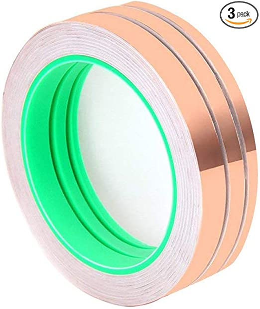 Wolfride Pack of 3 Double-sided Conductive EMI Shielding Copper Foil Tape for