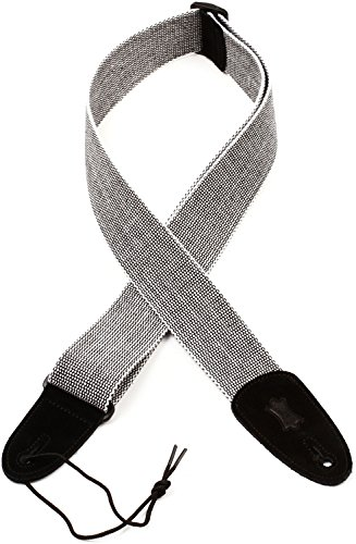 """Levy's MT8 2"""" Tweed Guitar Strap - White"""