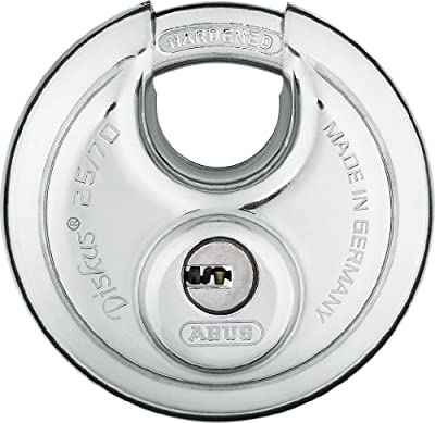 ABUS 25/70 KD B Stainless Steel High Tech Keyed Different Diskus Padlock