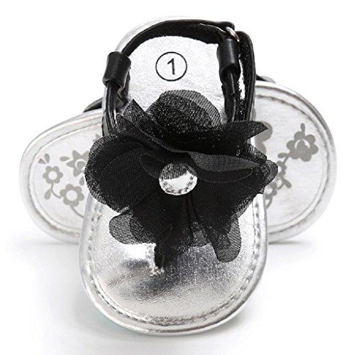 Baby 12 Kinder 6 Schuhe Blumen Auxma Gelb Baby Mädchen Schwarz 6 18 Monat M Kleinkind 3 Schuhe 6 12 Sandalen 12 für rxwO0g8rq