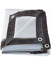 Transparante dekzeilen Heavy Duty waterdicht, dik waterdicht plastic zeildoek, anti-veroudering isolerend Doorzichtig poly dekzeilen met doorvoertules, voor tuinmeubelen auto's