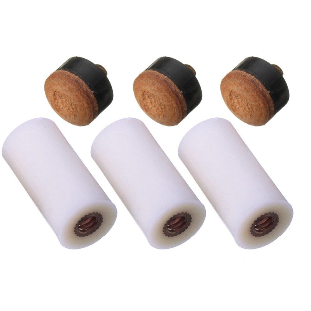 Broadroot virolas de billar de repuesto Stick screw-on consejos 13mm para billar