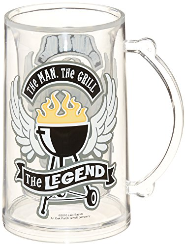 Stein Oz Plastic 14 (Laid Back The Man, The Grill, The Legend Beer Mug Tankard, 14-Ounce Plastic)