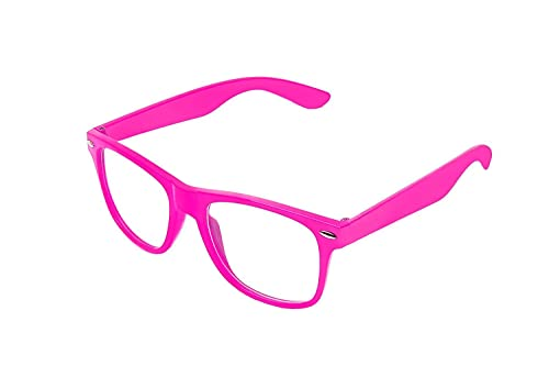 Retro Vintage Colour Unisex Punk Geek Wayfare Style Zero Number Clear Lens Glasses Eyewea