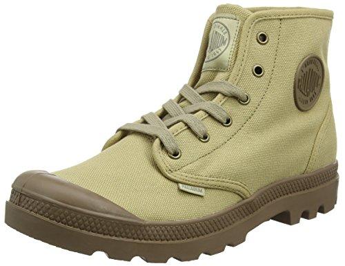 Palladium Pampa Hi, Sneaker a Collo Alto Uomo Marrone (Stonewashed Dk Khaki 442)