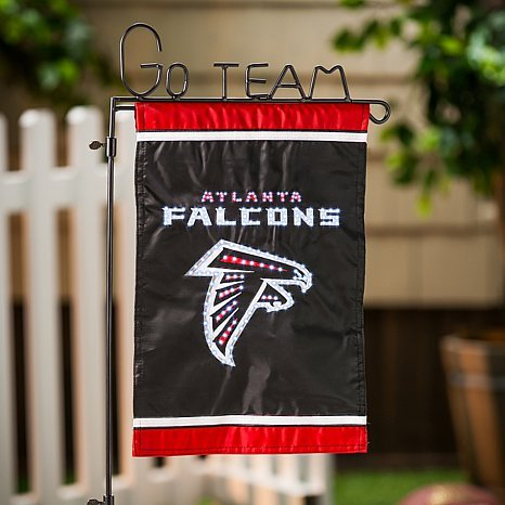 NFL Fiber Optic Garden Flag Set - Atlanta Falcons
