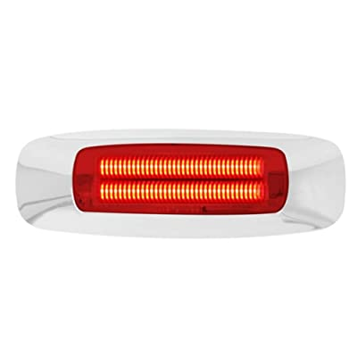"GG Grand General 74742 Light (5-3/4"" Rectangle Prime Red 4 LED Dual Function): Automotive"