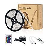 Zombber Smart WiFi LED Lights Strip Kit with Remote / WiFi Controller / Power Supply, Alexa / Google Home Controlled, 16.4 Foot 150 Leds 5050 RGB Muliticolor Dimmable Bedroom TV Backlight