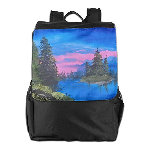 HSVCUY For Oil View Outdoors Strap Backpack Adjustable Camping Personalized School Travel Women Storage And Men Shoulder Dayback Painting q6SpF8rwqW