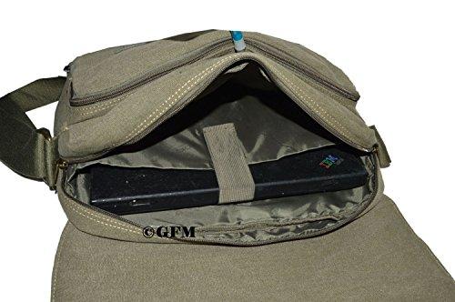 CKL631 de para para bandolera del School Lienzo para estilo el Style Uni de bolso Black o Medium bebé college bolso Charcoal viajar bandolera accesorios oficina boda Size 63 clásico Casual EqCwazCn