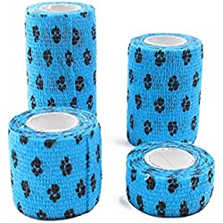 Nifera Pet Bandage Self Adhesive Elastic Anti-Pull Foot Training Bandage Tape Vet Wrap Pets First Aid Wound Care Disposable Breathable Water Resistant Wound Bandages