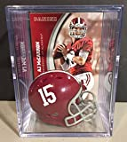 Alabama Crimson Tide NCAA Helmet Shadowbox w/ AJ McCarron card