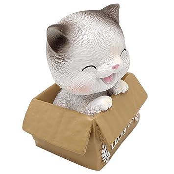 Sharplace Juguete de Muñecas de Gato en Caja de Cartón Asintiendo la Cabeza Adorno de Hogar: Amazon.es: Hogar