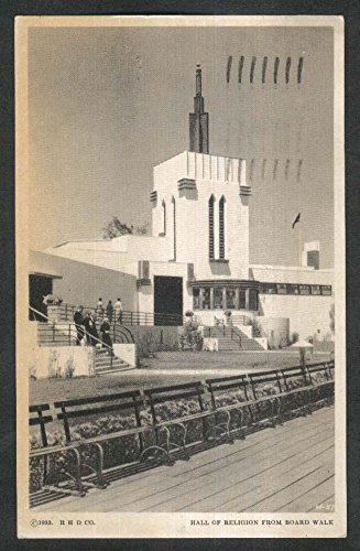 Century of Progress Hall of Religion from Board Walk Chicago IL postcard 1933