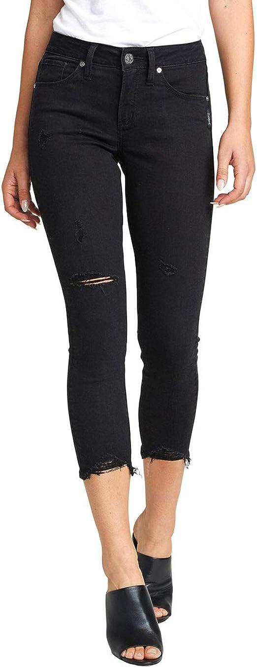 Silver Jeans Co. レディース Avery カービーフィット ハイライズ スキニークロップジーンズ