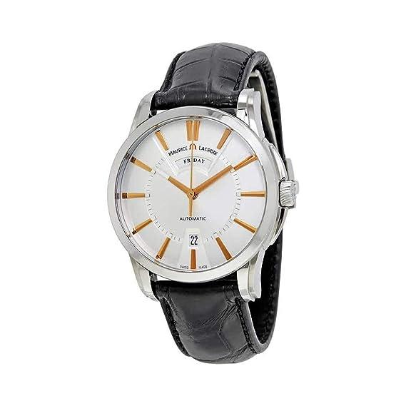 Reloj Automático Maurice Lacroix Pontos Date, ML155, Plata, PT6158-SS001-19E-1: Maurice Lacroix: Amazon.es: Relojes
