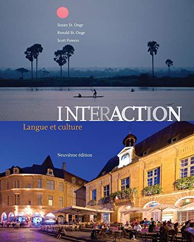 Cahier D Activities - Bundle: Interaction: Langue et culture, 9th + Premium Web Site Printed Access Card + Student Activities Manual (cahier d'activites orales et ecrites)