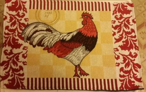 Rooster Red Border (The Pecan Man Set of 3 Kitchen Table 13