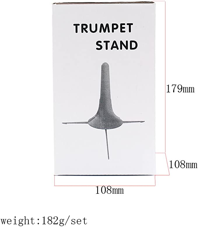 ULTNICE Trumpet Holder Tripod Stand Foldable Detachable Metal Leg for Brass Instrument