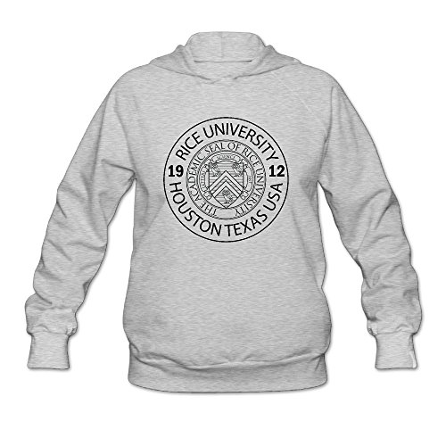 Women's Rice University EST. 1912 Houston Texas United States Long Sleeve Hooded Sweatshirt by QTHOO