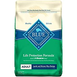 Blue Buffalo Life Protection Formula Natural Adult Dry Dog Food, Lamb and Brown Rice 30-lb